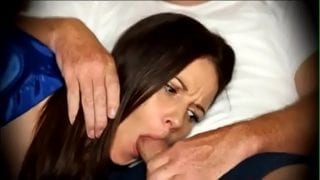 Step Mom forced to blowjob when sleeping