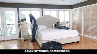 FamilyStrokes – Redhead Military Wife Gets Rammed by Stepson