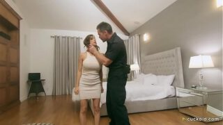Officer And Wife Fucks In Front Of A Pathetic Criminal – Alexis Fawx